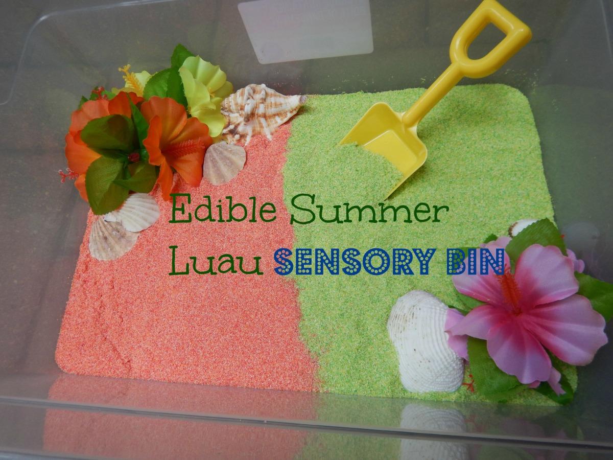 Edible Summer Luau Sensory Bin